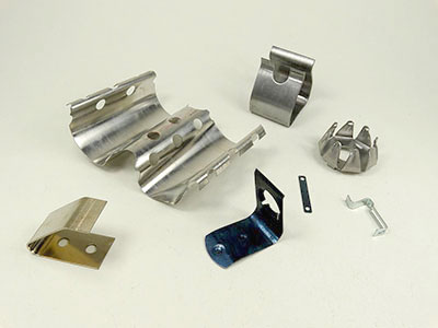 A selection of metal stamping products from Mid-West Spring and Stamping